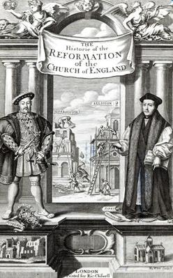 Titlepage of 'The History of the Reformation of the Church of England'