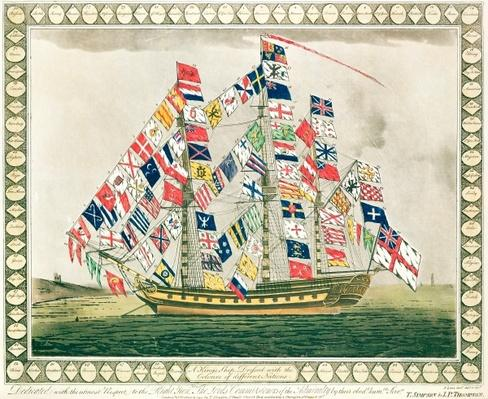 A King's Ship dressed with the colours of different nations, 6th October 1794