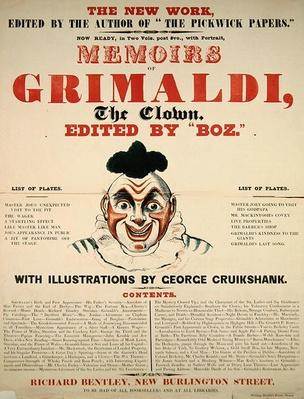 Memoirs of Grimaldi the clown, with illustrations by George Cruikshank, 1888