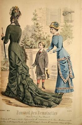 Paris Fashion, from 'Journal des Demoiselles', published Dupuy Paris, 1879