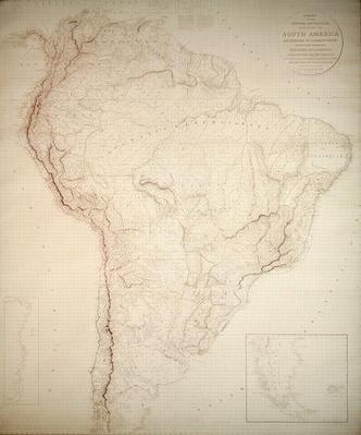 Outlines of the Physical and Political divisions of South America, 1810
