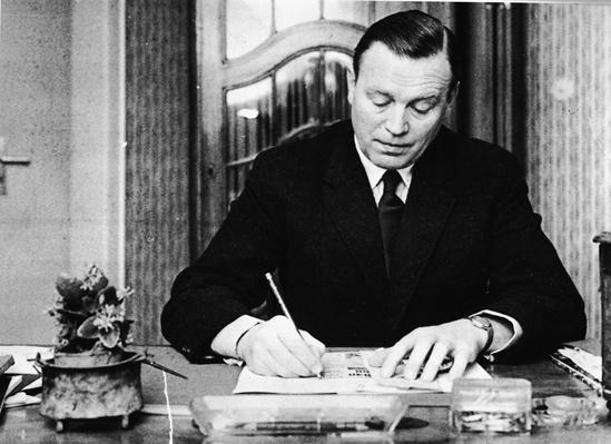Otto John Writing At Desk  | The Cold War | The 20th Century Since 1945: Postwar Politics