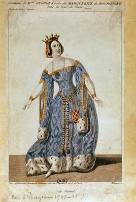 Mademoiselle George as Marguerite in Act II of 'La Tour de Nesles'