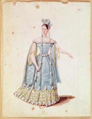 Mademoiselle Georges in 'Isabeau de Baviere'