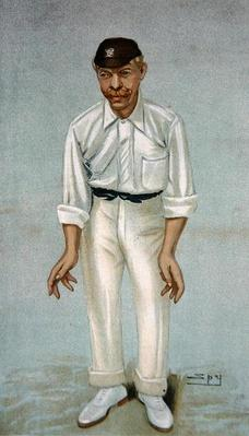 'Bobby', caricature of the cricketer Robert Abel, published 5th June 1902 in Vanity Fair