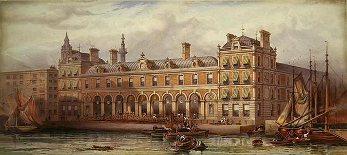 The London Fish Market at Billingsgate, 20th July 1877