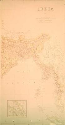 Map of India, 1877