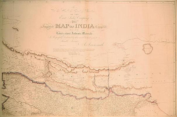 Map of India, 1822