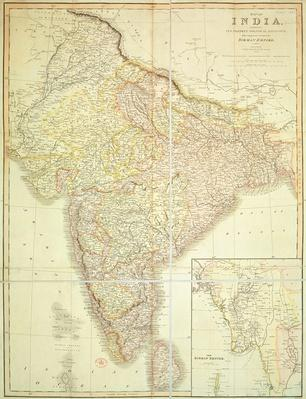 Map of India and Burma, 1826