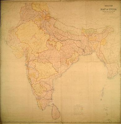 Map of India, 1865