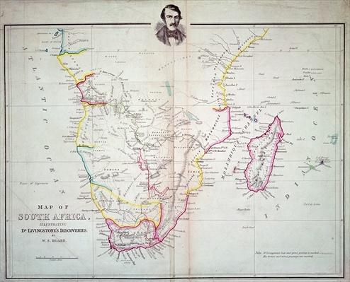 Map of South Africa illustrating Dr. Livingstone's discoveries