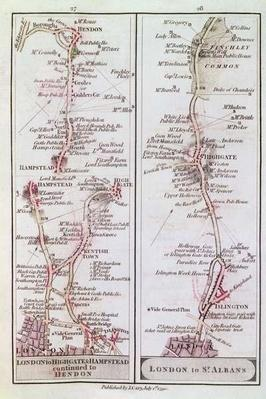 Great North Road out of London, 1st July 1790