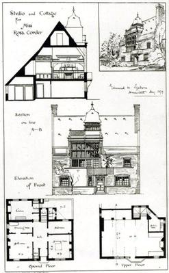 Studio and Cottage for Miss Rosa Corder, from 'The British Architect', 3rd October 1879