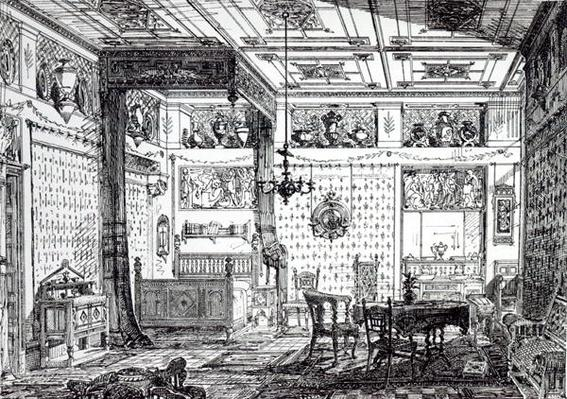 A Bed Room, from 'The House-Furnisher and Decorator, 1st December 1872