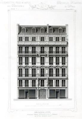 Maison A Loyer, No 3 Rue de la Paix, Paris; Architecture Privee au C19th