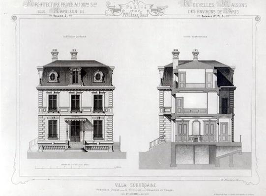 Villa Suburbaine, Premier Chasse at St. Cloud, from 'Architecture Privee au C19th',