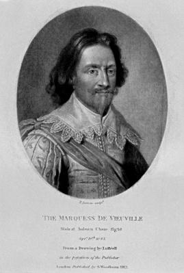 Portrait of The Marquis of Vieu Ville, from 'Characters Illustrious in British History, 1815