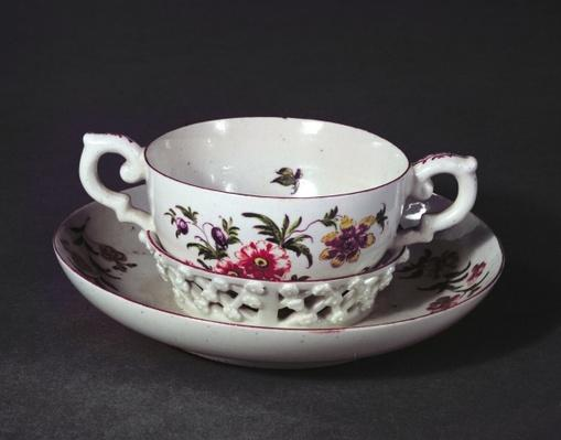 Derby trembleuse cup and saucer, c.1758