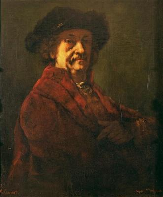 Copy of a Rembrandt Self Portrait, 1869