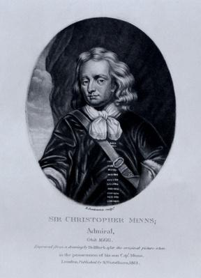 Portrait of Sir Christopher Minns, from 'Characters Illustrious in British History', by Richard Earlom and Charles Turner, 1815