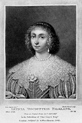 Portrait of Lady Viscountess Falkland, from 'Characters Illustrious in British History', by Richard Earlom and Charles Turner, 1815