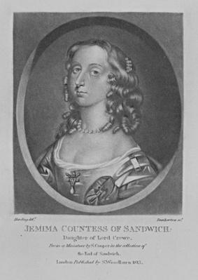 Portrait of Jemima Countess of Sandwich, from 'Characters Illustrious in British History', by Richard Earlom and Charles Turner, 1815