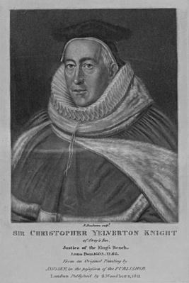 Portrait of Sir Christopher Yelverton, from 'Characters Illustrious in British Portraits', by Richard Earlom and Charles Turner, 1815