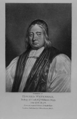 Portrait of Edward Wetenhall, from 'Characters Illustrious in British History', by Richard Earlom and Charles Turner, 1815