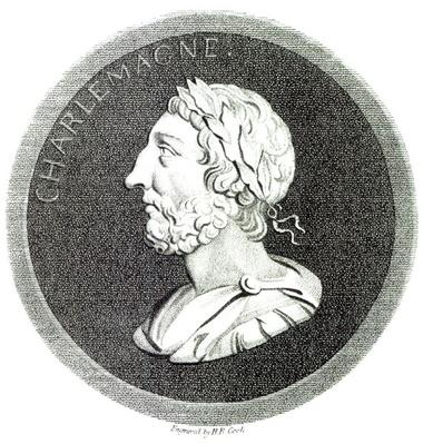 Portrait of Charlemagne, from 'The History of the Decline and Fall of the Roman Empire', Vol 4 Page 121, by Edward Gibbon, 1808
