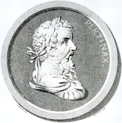 Portrait of Pertinax, from 'The History of the Decline and Fall of the Holy Roman Empire', by Edward Gibbon, 1808