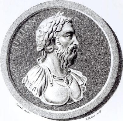 Portrait of Didius Julianus, from 'The History of the Decline and Fall of the Roman Empire' Vol 7 Page 137. by Edward Gibbon, 1808