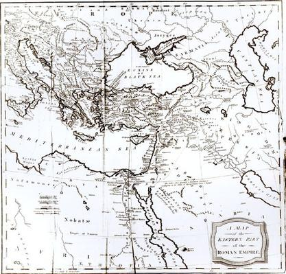 Map of the Eastern Part of the Roman Empire, from 'The History of the Decline and Fall of the Roman Empire' Vol 6, by Edward Gibbon, 1808