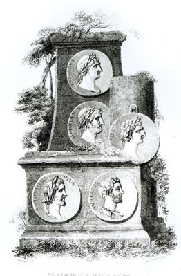 Portraits of Roman Emperors from 'The History of Decline and Fall of the Roman Empire' by Edward Gibbon, Vol 2, 1808