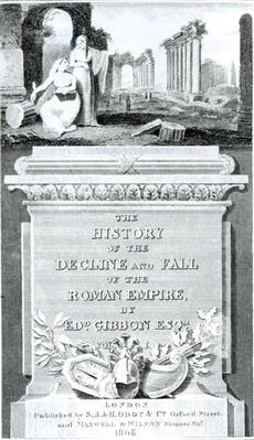 Titlepage of 'The History of the Decline and Fall of the Roman Empire', by Edward Gibbon, Vol 1, 1808