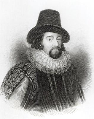 Portrait of Francis Bacon, from 'Lodge's British Portraits', 1823