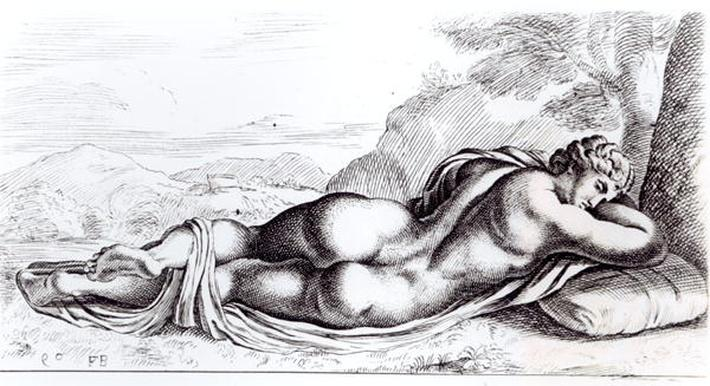 Hermaphrodite in the Borghese Gardens, c.1653