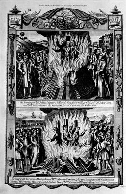 Martyrdom and burning, from 'The New and Complete Book of Martyrs', by Paul Wright