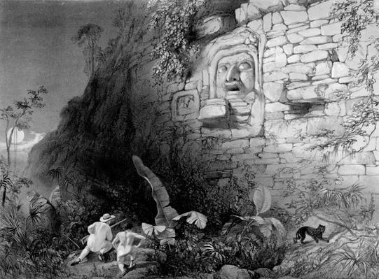 Head of Itzam Na, Izamal, Yucatan, Mexico, 1844