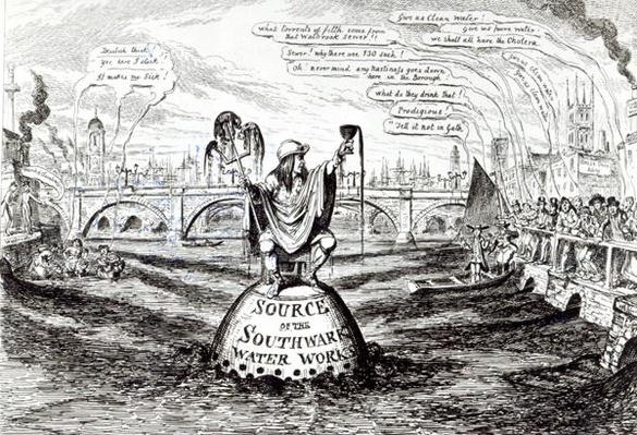 Satirical Cartoon about the Southwark Water Company, 1832