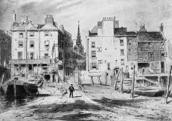 View of the Old Hungerford Stairs, c.1815