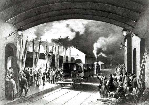 King Louis-Philippe of France departing from New Cross station, Deptford, 1844