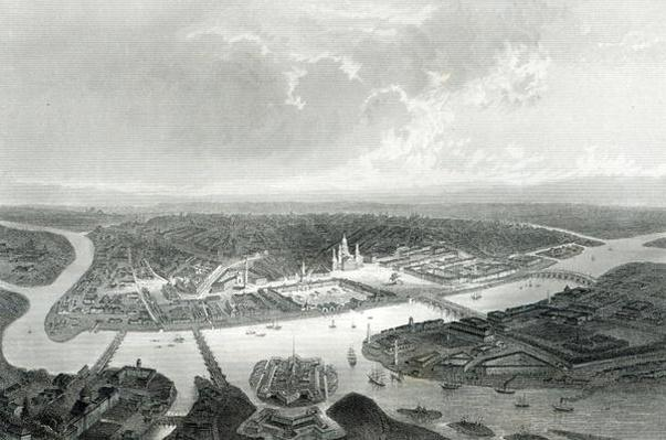 St.Petersburg, engraved by S.Bradshaw, c.1860
