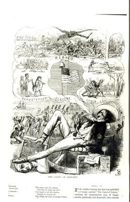 'The Land of Liberty', cartoon from Punch Magazine, 1847