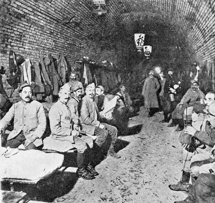 Sleeping Quarters in Douaumont Fort, c.1916