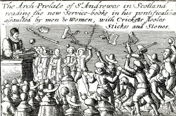Protesters in Edinburgh, 1637