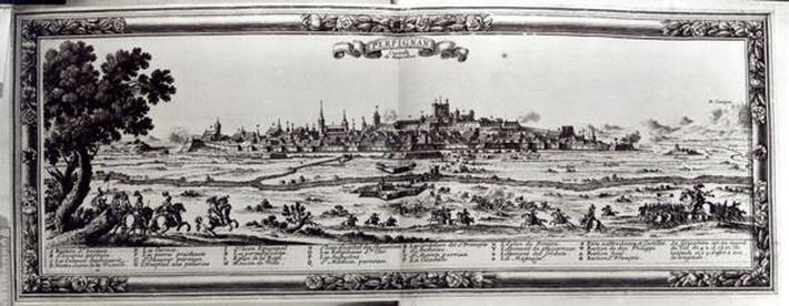 View of Perpignan, southern France, c.1645