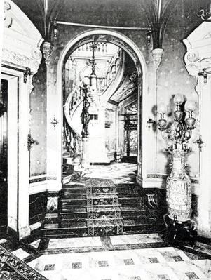 The Vestibule and Onyx Staircase in the Hotel de Paiva