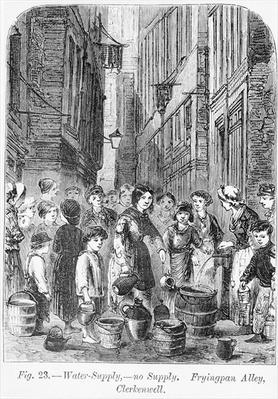 The Water supply in Fryingpan Alley, Clerkenwell, 1864