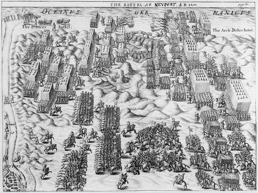 Maurice defeats the Austrians at the Battle of Nieuport, 1600