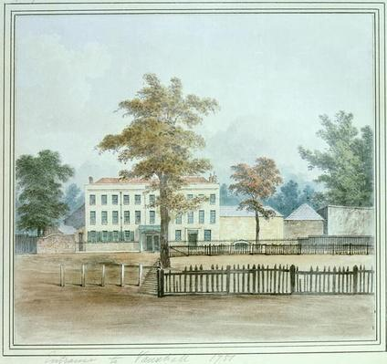 The Old House and entrance to Vauxhall Gardens, 1751